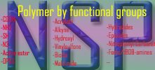 Polymers by functional groups