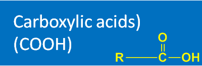 Carboxylic acids (COOH)