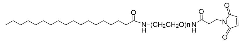 Stearic acid-PEG-Maleimide